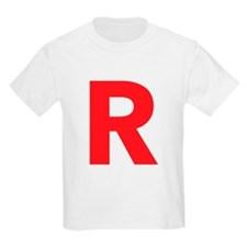 Letter R Red T-Shirt