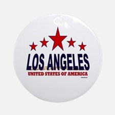 Los Angeles U.S.A. Ornament (Round)
