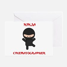 Ninja Cinematographer Greeting Card