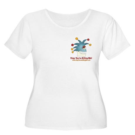 SYKM Women's Plus Size Scoop Neck T-Shirt