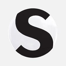 """Letter S Black 3.5"""" Button"""