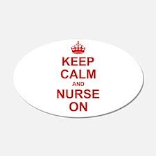 Keep Calm and Nurse on Wall Sticker