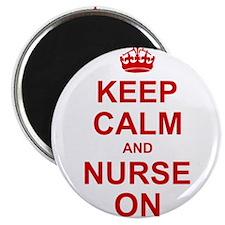 Keep Calm and Nurse on Magnets