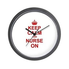 Keep Calm and Nurse on Wall Clock