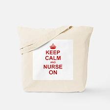 Keep Calm and Nurse on Tote Bag