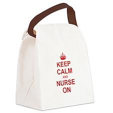 Keep Calm and Nurse on Canvas Lunch Bag