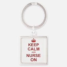 Keep Calm and Nurse on Keychains