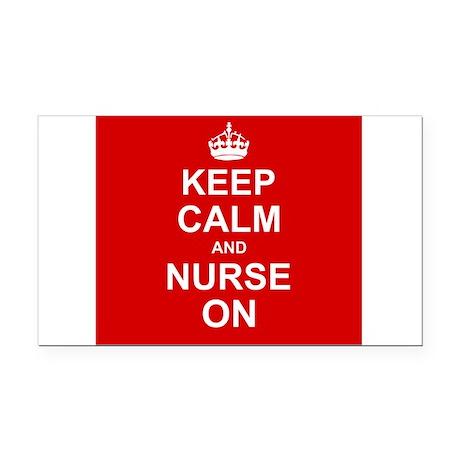 Keep Calm and Nurse on Rectangle Car Magnet