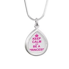 Keep Calm and be a Princess Necklaces