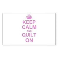 Keep Calm and Quilt on Decal