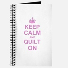 Keep Calm and Quilt on Journal