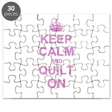 Keep Calm and Quilt on Puzzle
