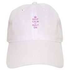 Keep Calm and Quilt on Baseball Cap