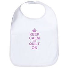 Keep Calm and Quilt on Bib