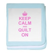 Keep Calm and Quilt on baby blanket