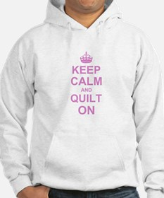 Keep Calm and Quilt on Jumper Hoody