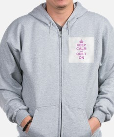 Keep Calm and Quilt on Zip Hoody