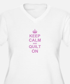 Keep Calm and Quilt on Plus Size T-Shirt