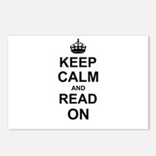 Keep Calm and Read on Postcards (Package of 8)