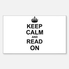 Keep Calm and Read on Decal