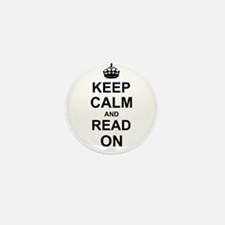 Keep Calm and Read on Mini Button (10 pack)