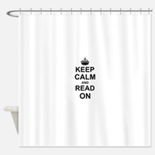 Keep Calm and Read on Shower Curtain