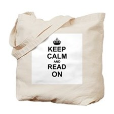 Keep Calm and Read on Tote Bag