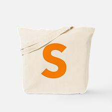 Letter S Orange Tote Bag