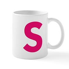 Letter S Pink Mugs