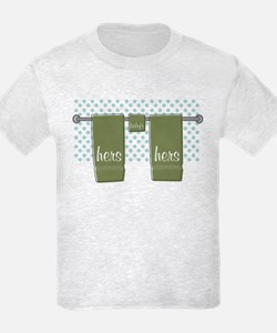 Her Towel Trio Kids Ash T-Shirt