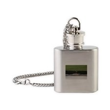 JFK Memorial Flame Flask Necklace