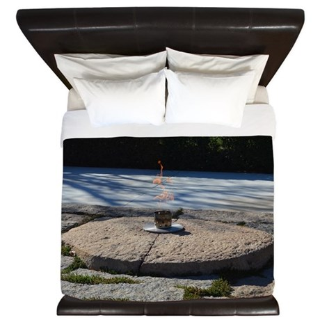 John F Kennedy Eternal Flame King Duvet
