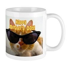 Happy Mother's Day Cool Cat Mugs