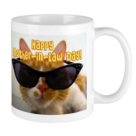 Happy Mother-in-Law Day Cool Cat with Sunglasses M
