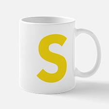 Letter S Yellow Mugs