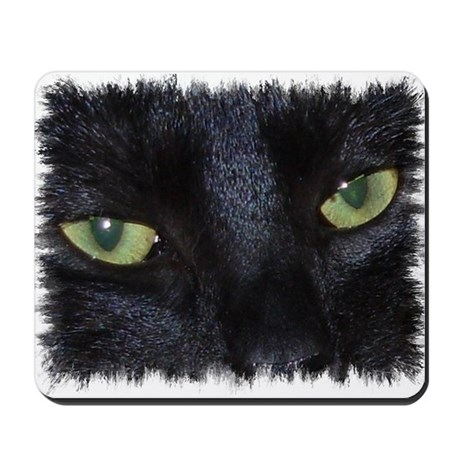 "Mousepad ""Miru - the naughty black cat"""