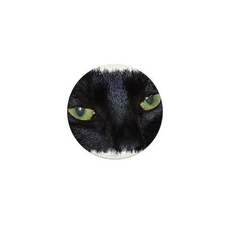 "Mini Button ""Miru - the naughty black cat"""