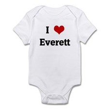 I Love Everett Onesie