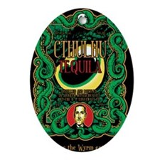 Cthulhu Tequila Oval Ornament
