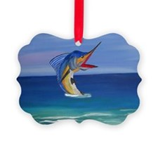 Happy Sailfish Art Ornament