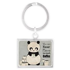 Panda and Snail: Coffee Landscape Keychain