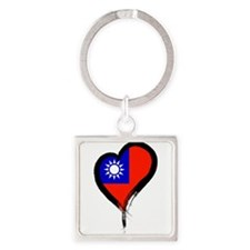 Heart Nation 06 Square Keychain