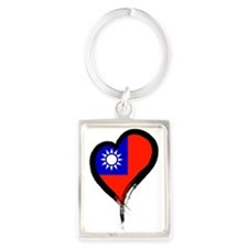 Heart Nation 06 Portrait Keychain