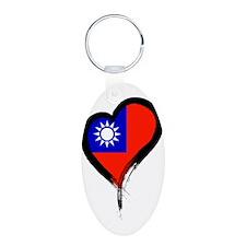 Heart Nation 06 Aluminum Oval Keychain