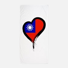 Heart Nation 06 Beach Towel