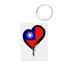 Heart Nation 06 Aluminum Photo Keychain