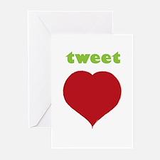 Tweet Heart Greeting Cards