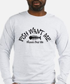 FISH WANT ME Long Sleeve T-Shirt