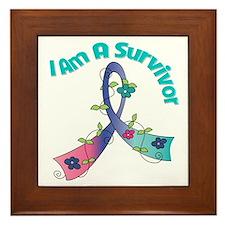Thyroid Cancer SURVIVOR Framed Tile