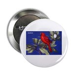 Northern Cardinal Bird Button